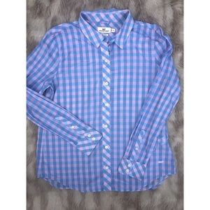 Vineyard Vines Classic Fit Checkered Blouse 8